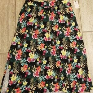 NWT Floral Maxi Skirt - Size 14W